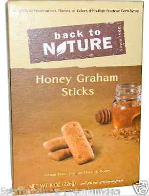 New Back To Nature California Honey Graham Sticks Crunchy Food Snacks Groceries