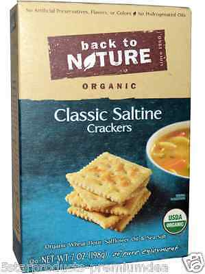 New Back To Nature Organic Classic Saltine Crackers Food Snack Groceries Healthy