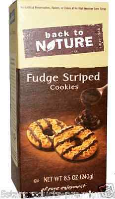 New Back To Nature Fudge Striped Cookies Food Snacks Groceries Daily Health Care