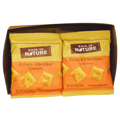 New Back To Nature Crispy Cheddar Crackers Food Groceries Snack Nutrition Crunch