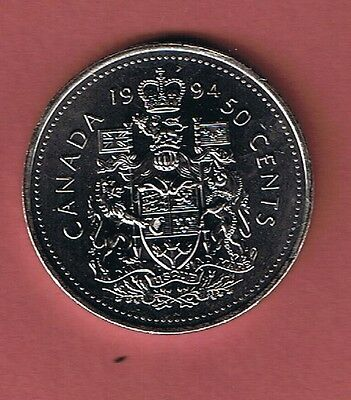 1994 Canadian  Half Dollar $1 Fifty Cent 50¢ Piece Coin Canada From Mint Roll