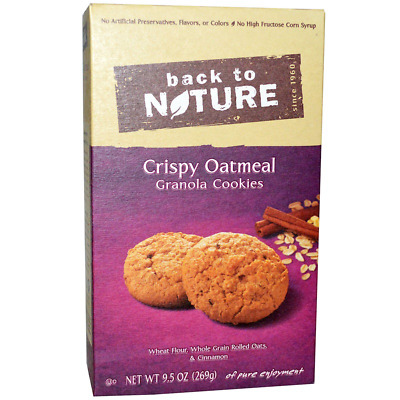 New Back To Nature Crispy Oatmeal Granola Cookies Food Groceries Snacks Healthy