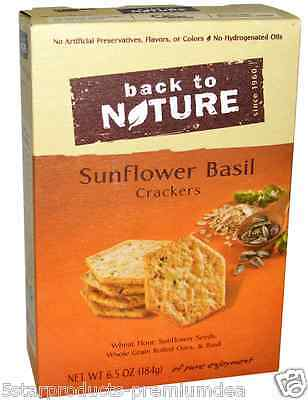 New Back To Nature Sunflower Basil Cracker Whole Grain Food Snacks Grocerie Care
