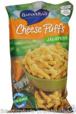 NEW BARBARA'S BAKERY CHEESE PUFFS JALAPEÑO 0g TRANS FAT FOOD SNACKS GROCERIE