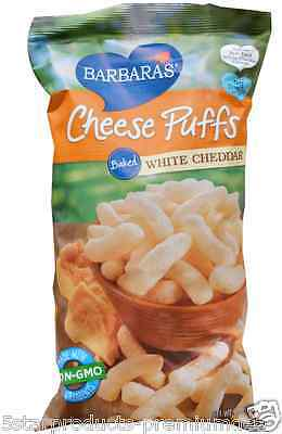 NEW BARBARA'S BAKERY CHEESE PUFFS WHITE CHEDDAR 0g TRANS FAT FOOD SNACK GROCERIE