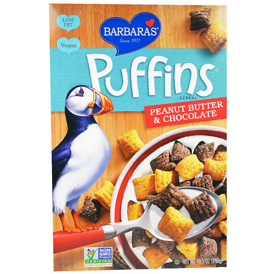 New Barbara's Bakery Snackimals Puffins Cereal Peanut Butter Food Snack Grocerie