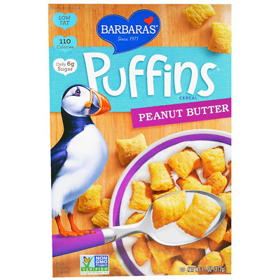 New Barbara's Bakery Breakfast Puffins Cereal Peanut Butter Food Snack Grocerie