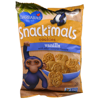 NEW BARBARA'S BAKERY SNACKIMALS COOKIES VANILLA GROCERIES FOOD 0g TRANS FAT CARE