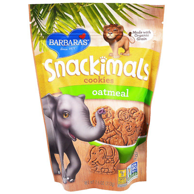 NEW BARBARA'S BAKERY SNACKIMALS COOKIES OATMEAL GROCERIES FOOD 0g TRANS FAT CARE