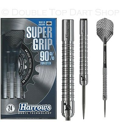 Harrows Supergrip 90% Tungsten Steel Tip Darts - Available in 21 - 26 Gram