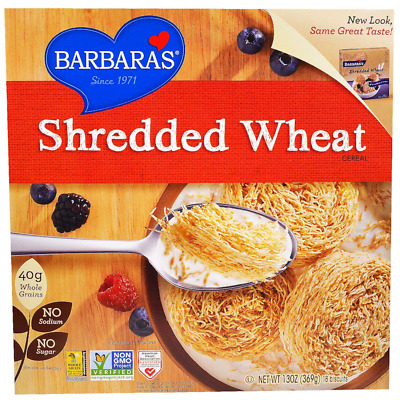 New Barbara's Bakery Shredded Wheat Cereal Breakfast Food Snack Grocerie Healthy