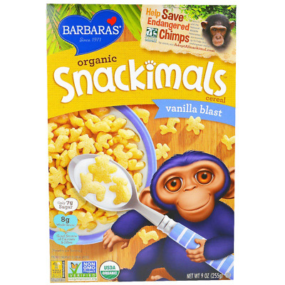 New Barbara's Bakery Organic Snackimals Cereal Food Snack Breakfast Daily Health