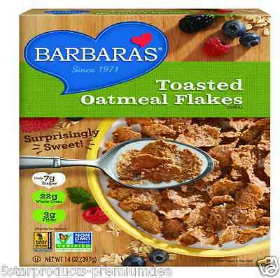 New Barbara's Bakery Toasted Oatmeal Flakes Cereal Breakfast Food Snacks Healthy