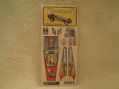 Pine Car Pinewood Derby TEMPLATES & STICK ON DECALS P475