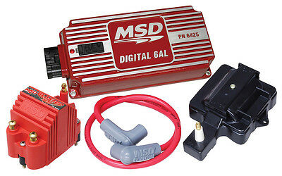 msd ignition complete kit digital 6al distributor wires coil msd 85001 super hei gm v8 6al ignition control blaster coil wire dust cover kit