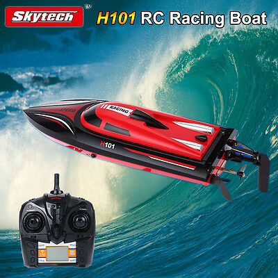 Skytech H101 2.4GHz Remote Control 180° Flip Electric RC Racing Boat Kids Gift
