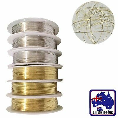 0.3~0.6mm Golden Silver Beading Wire Cord Jewelry Necklace Bracelet DIY JBRO261