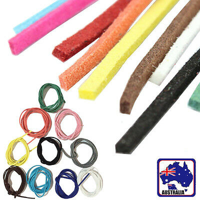 10M Suede Leather Cord Thread String 3mm Rope Necklace Charms 10 Colors CSLA008