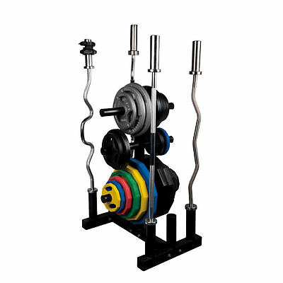Body Power Olympic Bar/ Weight Plate Disc Rack/ Storage Holder