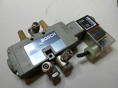 BOSCH - SOLNOID VALVE PNUEMATIC 5/2 w/Fittings and silencers -- 24DC coils -