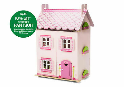 NEW Le Toy Van My First Dream Wooden Dolls House & Furniture Included