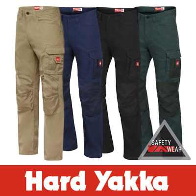 NEW Hard Yakka Legends Trouser Pant Y02202 ALL SIZES Work Navy Khaki Black Green