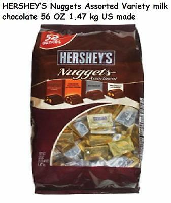 HERSHEY'S Nuggets Assorted Variety milk chocolate 56 OZ 1.47 kg US made