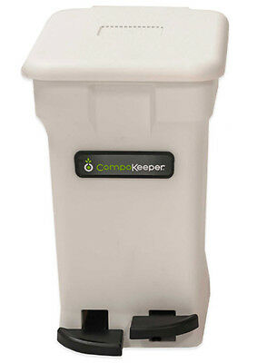 Compost Bin Composting 6 Gallon Material Gardening Backyard Recycling White NEW