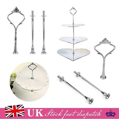 10x 2/3Tier Cake Cupcake Plate Stand Crown Handle Fitting Rod Rack Wedding Party