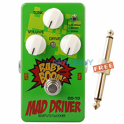 Biyang Baby Boom OD-10 Tube Tone Mad Drive Overdrive Guitarra Pedal de Efectos