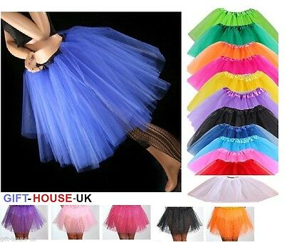 Tutu Ladies Girls Kids Tutu Skirt Fancy Skirt Dress Up Party 3 Layers Halloween