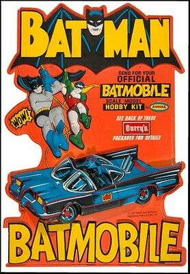 1960s BURRY Batman Batmobile display stand replica magnet - new!