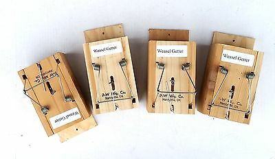 4 Weasel Getter Traps, Including Priority Mail shipping.