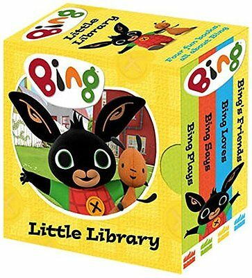 BING'S LITTLE LIBRARY Cbeebies Board Book 4 Pack Toddler/Child Stories BN