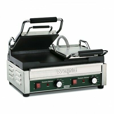 Waring WFG300 Commercial Double Italian Style Flat Grill 240V 1 Year Warranty