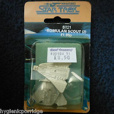 1986 ST21 Star Trek Romulan Scout Citadel Starship Enterprise FASA Star Ship MIB