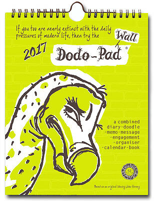 DODO WALL PAD CALENDAR 2017 week to view organiser-planner for a family DWP17