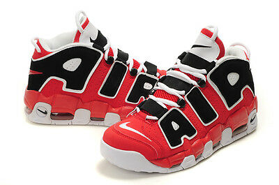 Nike Air More Max Uptempo Gs 4Y-7Y Chicago Pippen Red Black White 415082 600 Usa