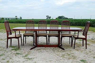 Rosewood danish modern dining set table chairs