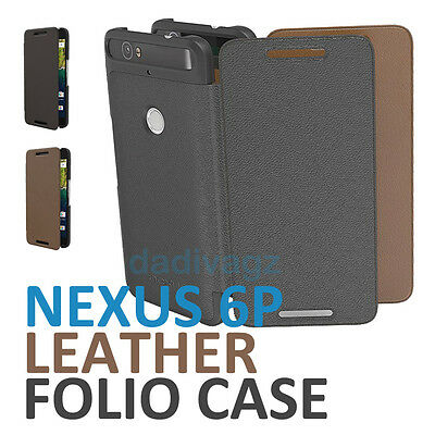 Genuine Official Nexus 6P Leather Folio Case Flip Cover for Huawei Google