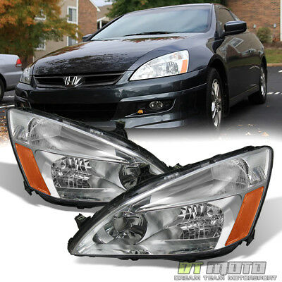 2003-2007 Honda Accord 2/4Dr Sedan Coupe Headlights Lamps Left+Right Aftermarket