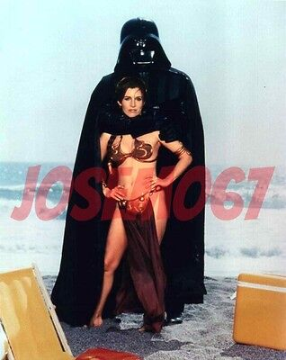 Carrie Fisher Star Wars (Slave Leia Costume) 8x10 Photo #5