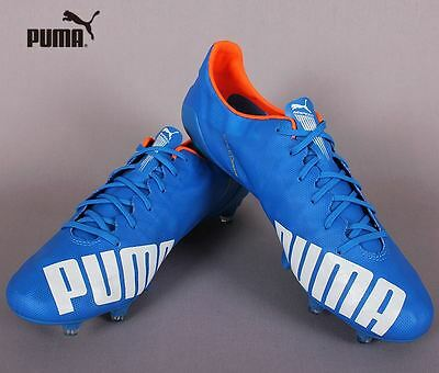 0823a8601 PUMA evoSPEED SL FG 10323503 Blue Soccer Football Cleats Shoes Boots Cleat  Spike