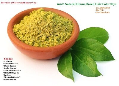 Organic Henna Hair Dye Color Powder Herbal Natural Conditioner No PPD No Ammonia