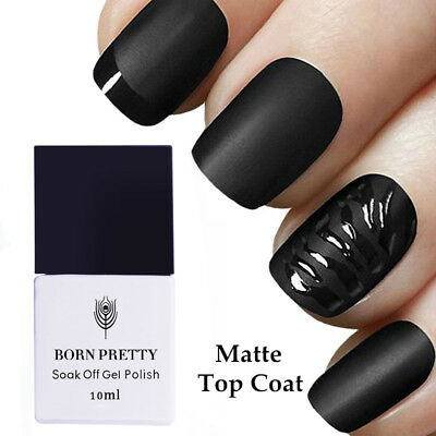 10ml Born Pretty Nail Art NO Wipe Matte Top Coat Soak Off UV Gel Polish Nails