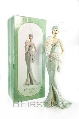 Charleston Lady Standing Figurine Decorative Art Figure Ornament Victorian Gift