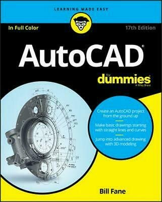 Autocad for Dummies by Bill Fane (English) Paperback Book Free Shipping!