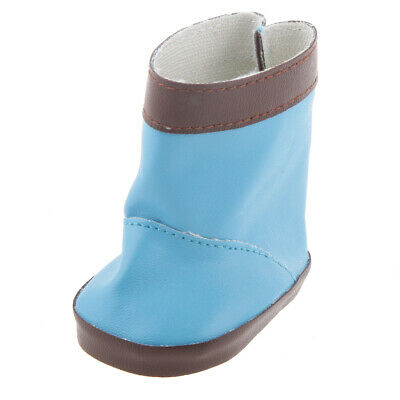 Pair Handmade fashion blue shoes boots for 18inch American girl doll party