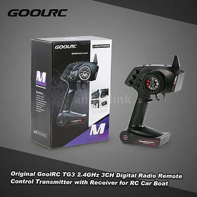 GoolRC TG3 2.4GHz 3CH Digital Radio Transmitter w/Receiver for RC Car Boat K2R4