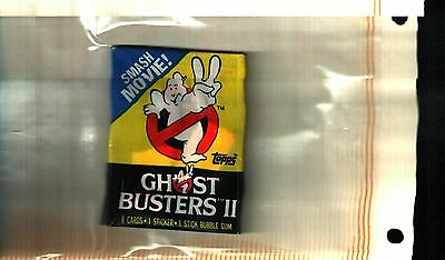 1989 topps Ghost Busters II single  Wax Pack EXCELLENT CONDITION